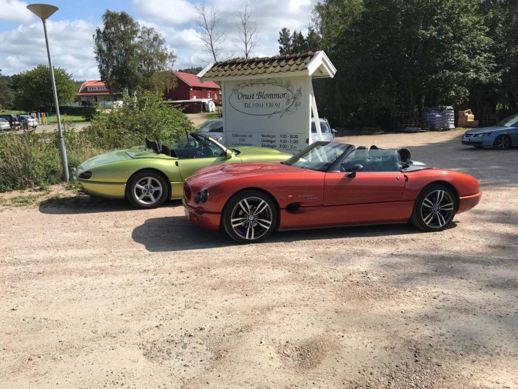 En grön och en röd Indigo 3000
