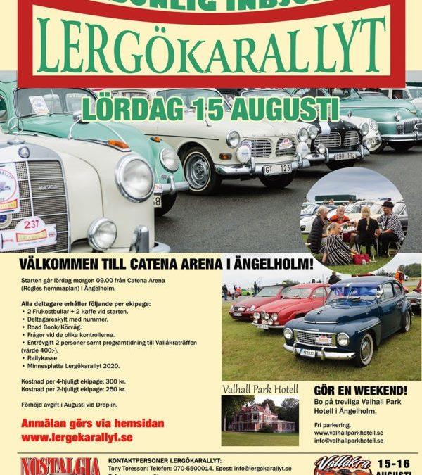 Vallåkraträffen och Lergökarallyt 15-16 augusti